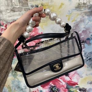 "Chanel ""Sand By The Sea"" Pearl Flap Bag"